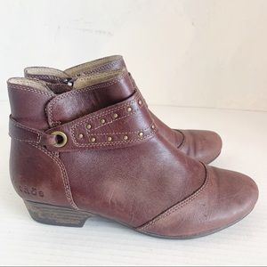 Taos Chelsea ankle boots brown leather 6.5